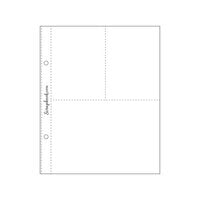 Scrapbook.com - 6 x 8 Page Protectors - 4 x 6 Two 3 x 4 - 10 Pack