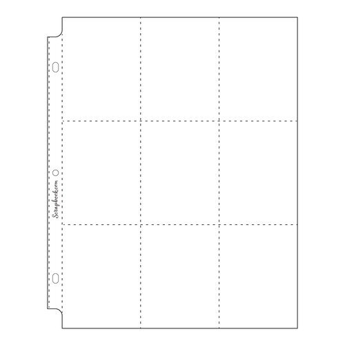 Scrapbook.com - 9x12 Page Protectors - Nine 3x4 Pockets - 10 Pack