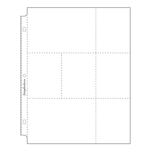 Scrapbook.com - 9x12 Page Protectors - Two 4x6 Five 3x4 Pockets - 10 Pack
