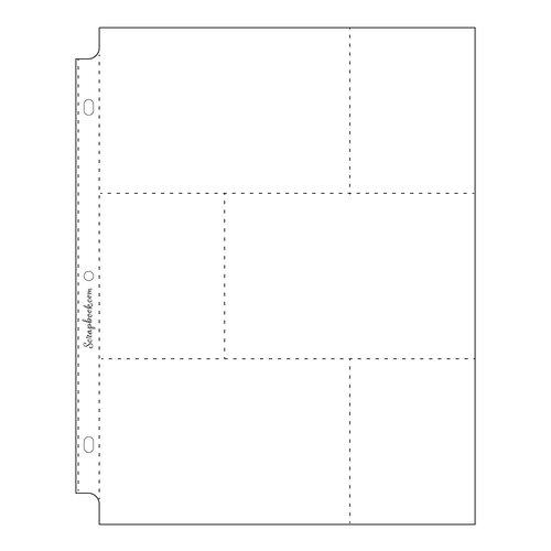 Scrapbook.com - 9x12 Page Protectors - Three 4x6 Three 3x4 Pockets - 10 Pack