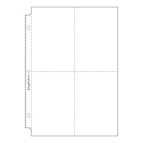 Scrapbook.com - 8x12 Page Protectors - Four Vertical 4x6 Pockets - 10 Pack