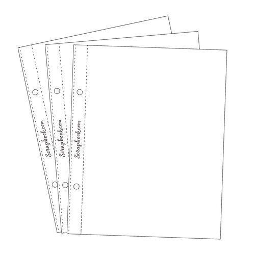 Scrapbook.com - 6x8 Open Page Protectors - 30 Pack