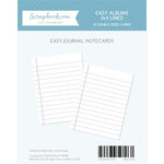 3 x 4 - Journaling Cards for Easy Albums - Lined - 12 Pack
