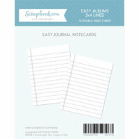 Scrapbook.com - 3 x 4 - Journaling Cards for Easy Albums - Lined - 12 Pack