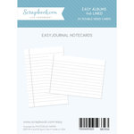 4 x 6 - Journaling Cards for Easy Albums - Lined - 24 Pack