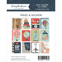Scrapbook.com - 3 x 4 - Cards for Easy Albums - Travel and Vacation - 12 Pack