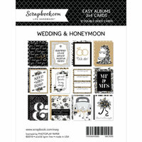 Scrapbook.com - 3 x 4 - Cards for Easy Albums - Wedding and Honeymoon - 12 Pack