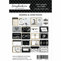 Scrapbook.com - 4 x 6 - Cards for Easy Albums - Wedding and Honeymoon - 24 Pack