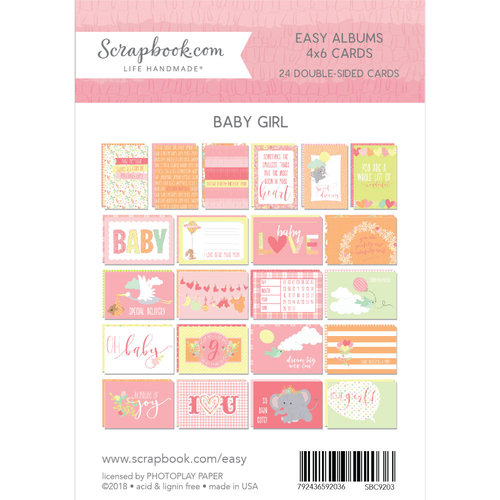 Scrapbook.com - 4 x 6 - Cards for Easy Albums - Baby Pinks - 24 Pack