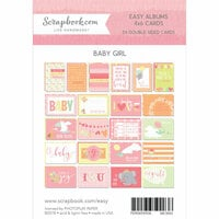 4 x 6 - Cards for Easy Albums - Baby Pinks - 24 Pack