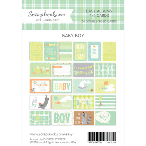 Scrapbook.com - 4 x 6 - Cards for Easy Albums - Baby Blues - 24 Pack