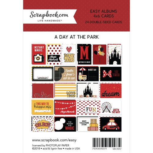 Scrapbook.com - 4 x 6 - Cards for Easy Albums - Magical Day at the Park - 24 Pack