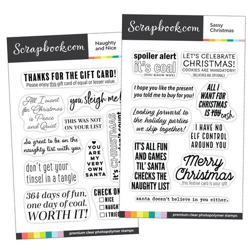 Clear Photopolymer Stamp Set - Sassy Christmas Bundle