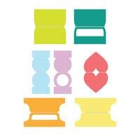 Scrapbook.com - Decorative Die Set - Small Tab Dies
