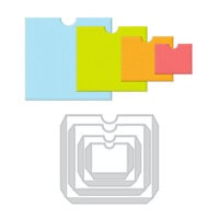 Scrapbook.com - Decorative Die Set - DIY Pockets - Set of 4