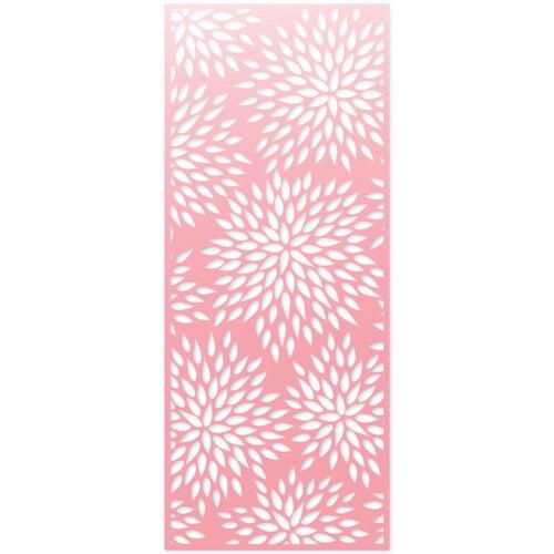 Scrapbook.com - Decorative Die - Slimline - Mums