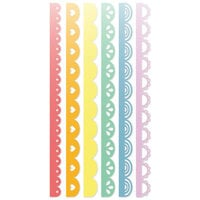 Scrapbook.com - Decorative Die Set - Slimline - Borders - Set of 6