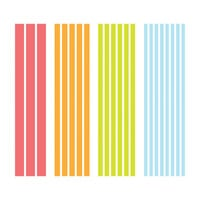 Scrapbook.com - Decorative Die Set - Slimline - Strips