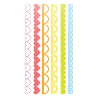 Scrapbook.com - Decorative Die Set - Slimline - Borders 2 - Set of 6