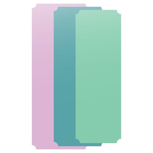 Scrapbook.com - Decorative Die Set - Slimline - Nested Tickets