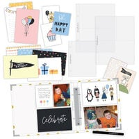 Scrapbook.com - Simple Scrapbooks - Celebrate - Complete Kit with White and Gold Foil Dot Album