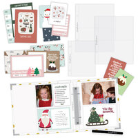 Scrapbook.com - Simple Scrapbooks - December to Remember - Complete Kit with White and Gold Foil Dot Album