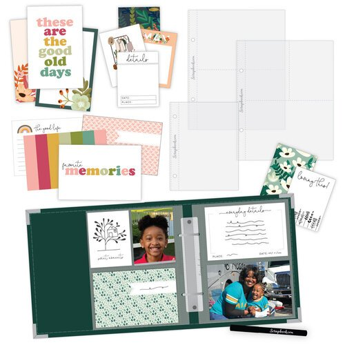 Scrapbook.com - Simple Scrapbooks - Everyday Moments - Complete Kit with Forest Green Album