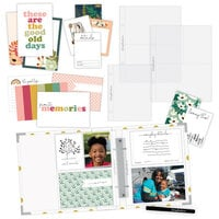 Scrapbook.com - Simple Scrapbooks - Everyday Moments - Complete Kit with White and Gold Foil Dot Album