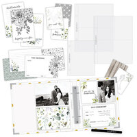Scrapbook.com - Simple Scrapbooks - Wedding - Complete Kit with White and Gold Foil Dot Album