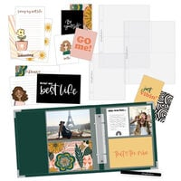 Scrapbook.com - Simple Scrapbooks - My Best Life - Complete Kit with Forest Green Album