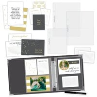 Scrapbook.com - Simple Scrapbooks - In Loving Memory - Complete Kit with Charcoal Gray Album