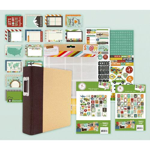 Simple Stories - SNAP Collection - Album Kit - Travel (Scrapbook.com Exclusive)