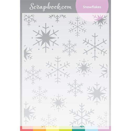 Scrapbook.com - Stencils - Snowflakes - 6x8