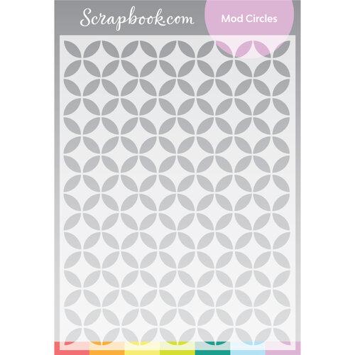 Scrapbook.com - Stencils - Mod Circles - 6x8