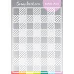 Scrapbook.com - Stencils - Buffalo Check - 6x8