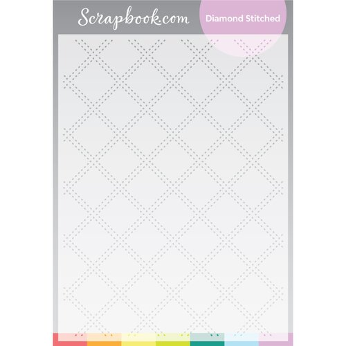 Scrapbook.com - Stencils - Diamond Stitched - 6x8