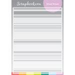 Scrapbook.com - Stencils - Mixed Stripes - 6x8