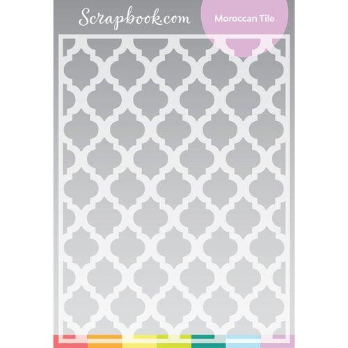 Scrapbook.com - Stencils - Moroccan Tile - 6x8