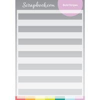 Scrapbook.com - Stencils - Bold Stripes - 6x8