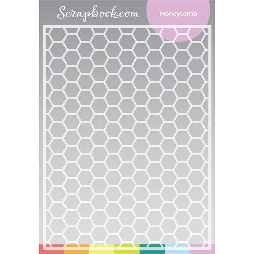 Scrapbook.com - Stencils - Honeycomb - 6x8