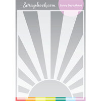 Scrapbook.com - Stencils - Sunny Days Ahead - 6x8