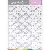 Scrapbook.com - Stencils - Vintage Floral - 6x8