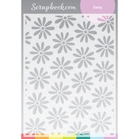 Scrapbook.com - Stencils - Daisy - 6x8