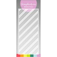 Scrapbook.com - Stencils - Slimline - Stripes - 4x9