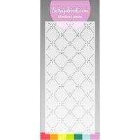 Scrapbook.com - Stencils - Slimline - Lattice - 4x9