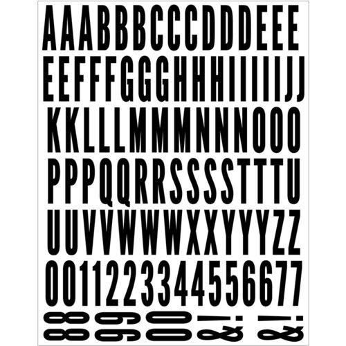 Scrapbook.com - Alphabet Sticker Sheet - Matte Black