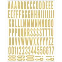 Scrapbook.com - Alphabet Sticker Sheet - Gold Foil