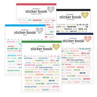 Scrapbook.com - Cardstock Sticker Book - Variety Pack with Foil Accents - 5 Book Bundle
