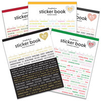 Scrapbook.com - Sticker Book Bundle - Variety Bundle with Foil Accents - 5 Pack