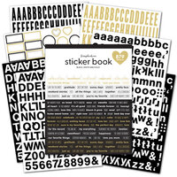 Scrapbook.com - Sticker Book - Black & White with Gold Foil Accents